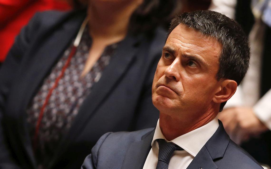 Valls em sessão do Parlamento
