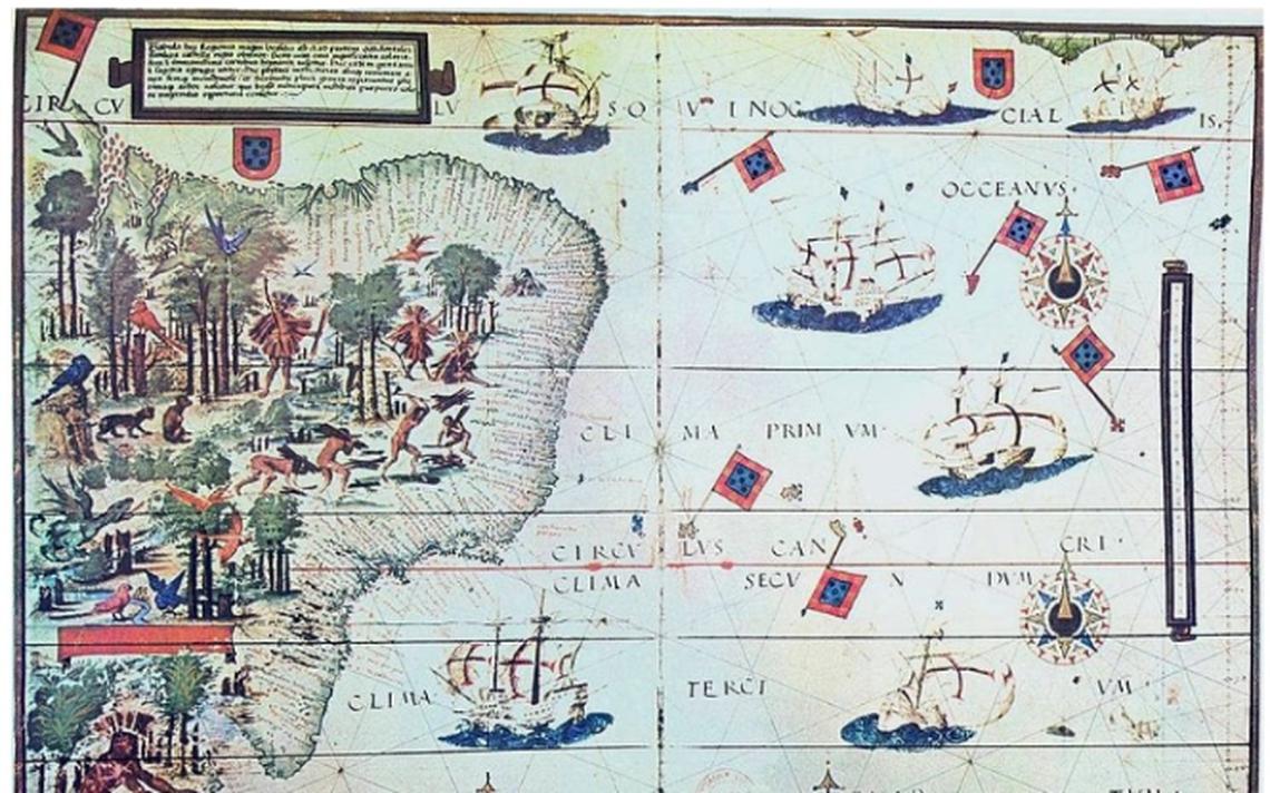 Mapa da costa brasileira em 1519