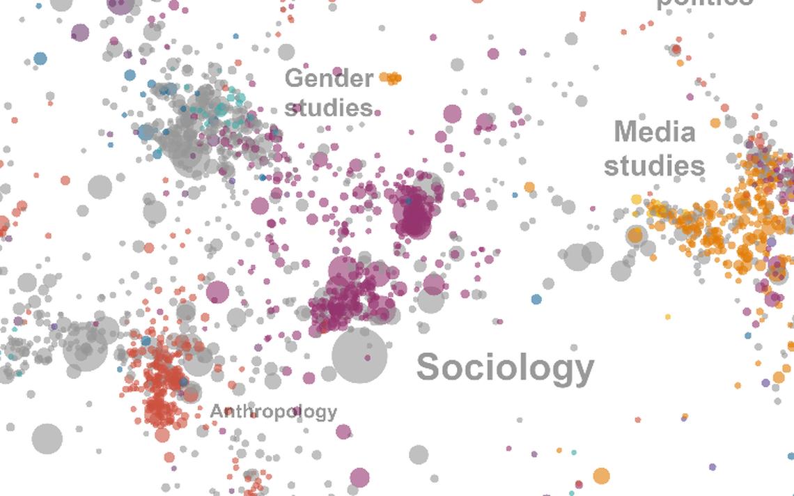 Mapa que organiza as mais de 160 mil obras populares em cursos universitários