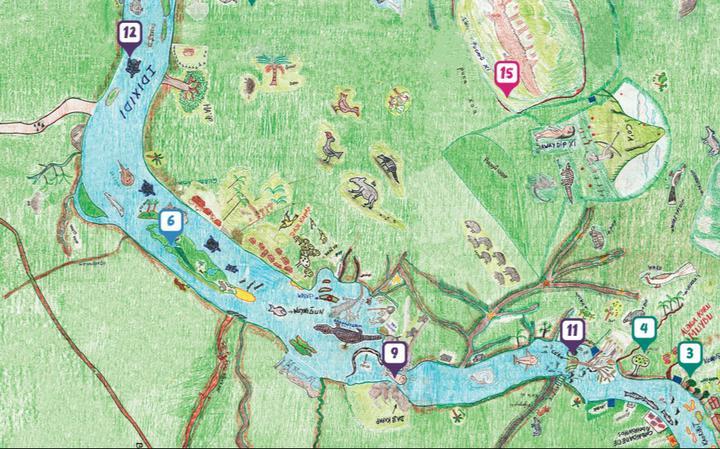 Imagem do Mapa da Vida criado pelos Munduruku