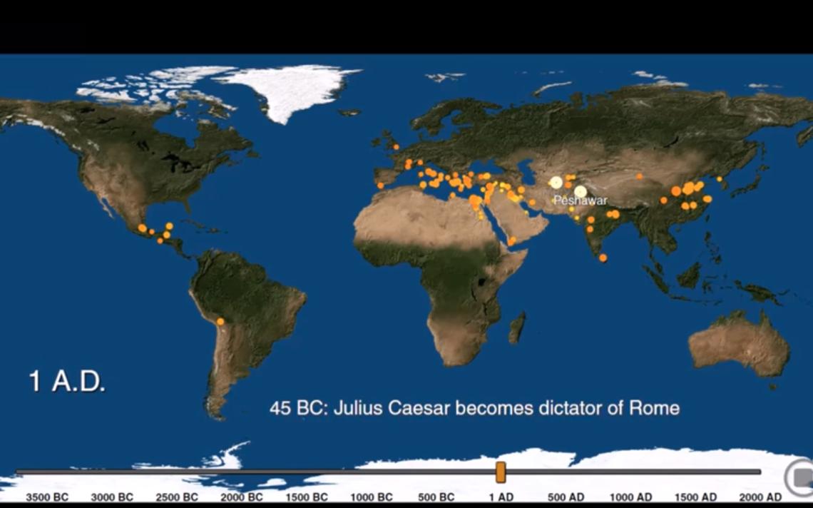 Mapa mostra desenvolvimento das cidades pelo globo