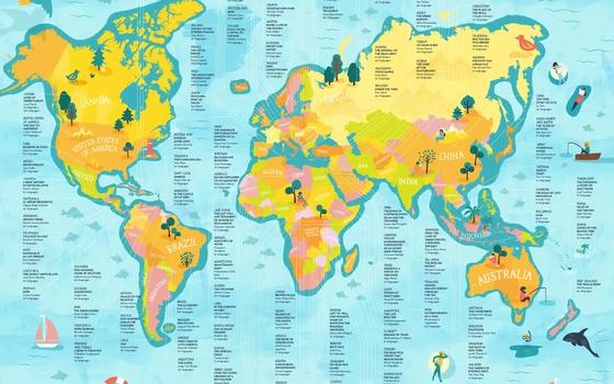 O mapa que mostra os livros mais traduzidos de cada país