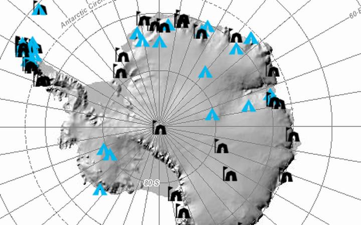 Mapa da Antártida criado por cientistas americanos