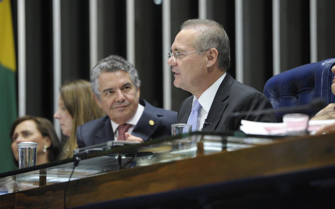 Ministro do Supremo, Marco Aurélio Mello, e Renan Calheiros