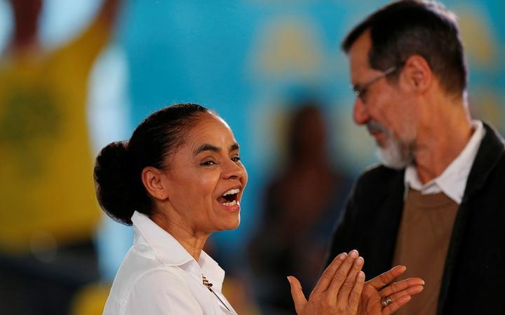 Marina Silva (Rede) e Eduardo Jorge (PV) oficializam chapa para concorrer à Presidência, em Brasília
