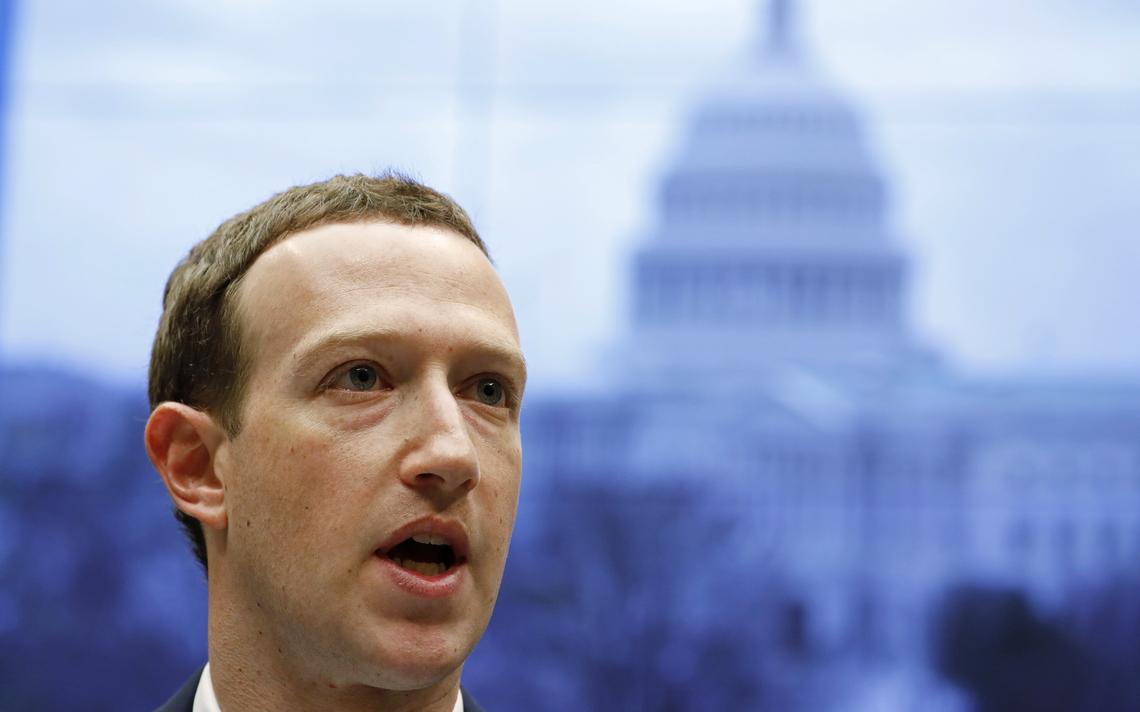 Mark Zuckerberg durante sabatina na Câmara dos Representantes dos EUA, em 11 de abril de 2018
