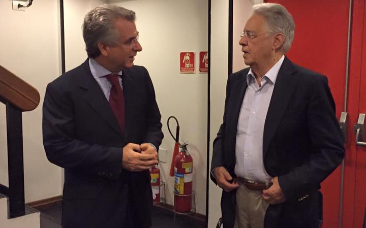 Andrea Matarazzo e Fernando Henrique Cardoso