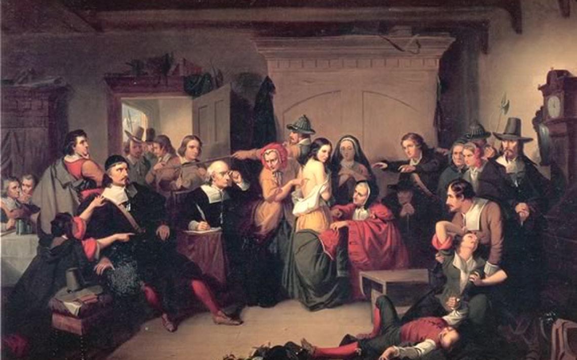 Pintura retrata julgamento das