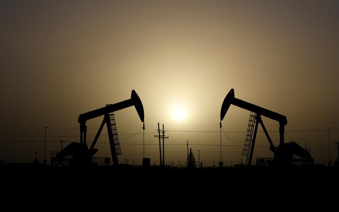 Maquinário para extração de petróleo em Midland, no estado do Texas, nos Estados Unidos, em fevereiro de 2019