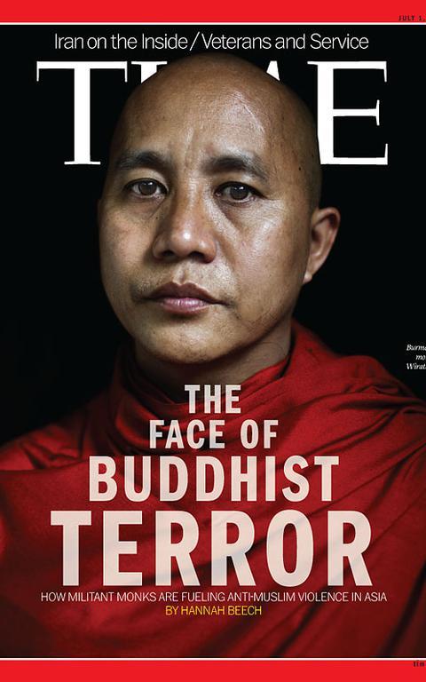 Capa da revista 'Time' de julho de 2013 sobre violência de grupos budistas