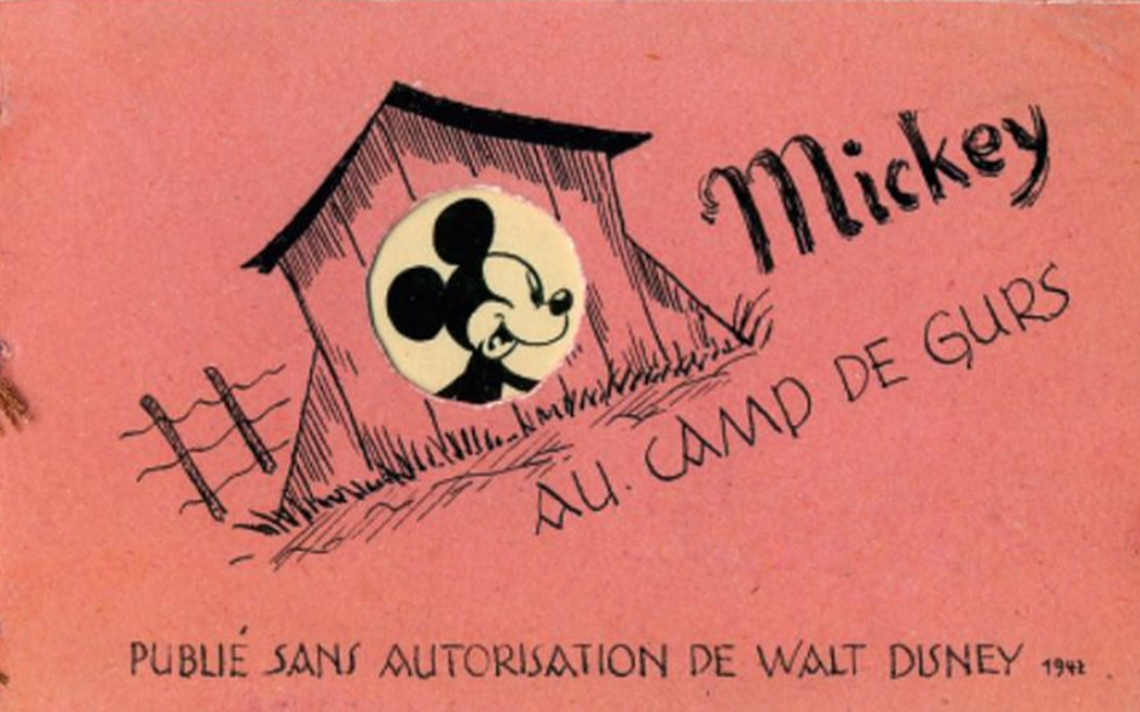 Capa do gibi 'Mickey Mouse au Camp de Gurs'