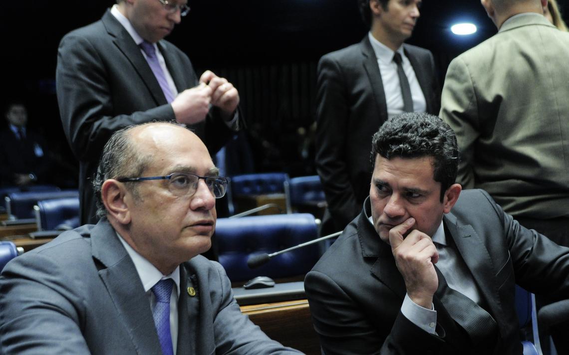 Ministro do Supremo, Gilmar Mendes, e o juiz federal Sergio Moro
