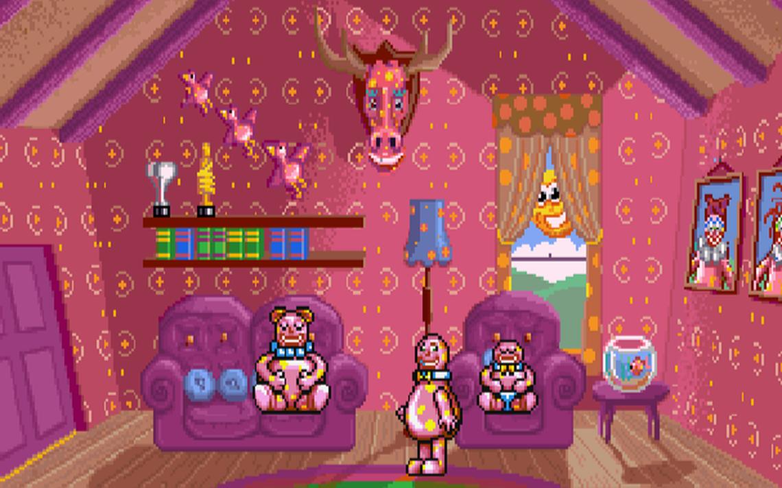 Cena do jogo Mr. Blobby