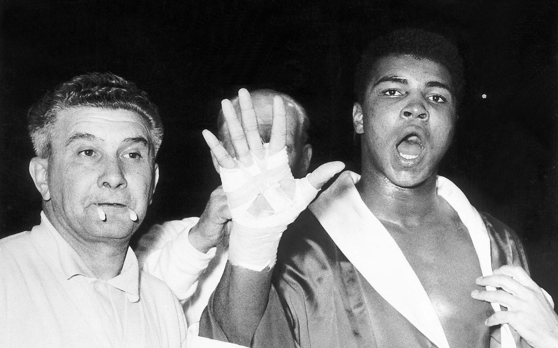 Muhammad Ali em Londres, em junho de 1963