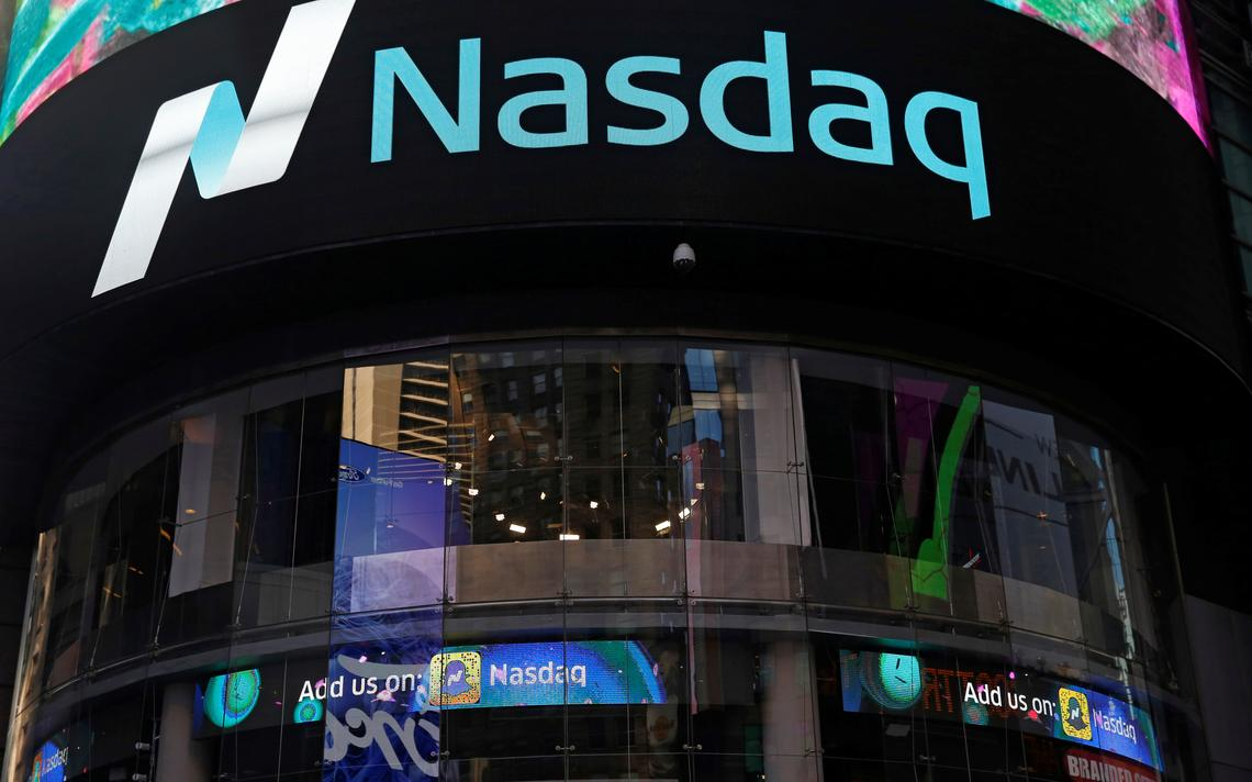 Fachada da bolsa de valores de tecnologia Nasdaq em Nova York, nos Estados Unidos