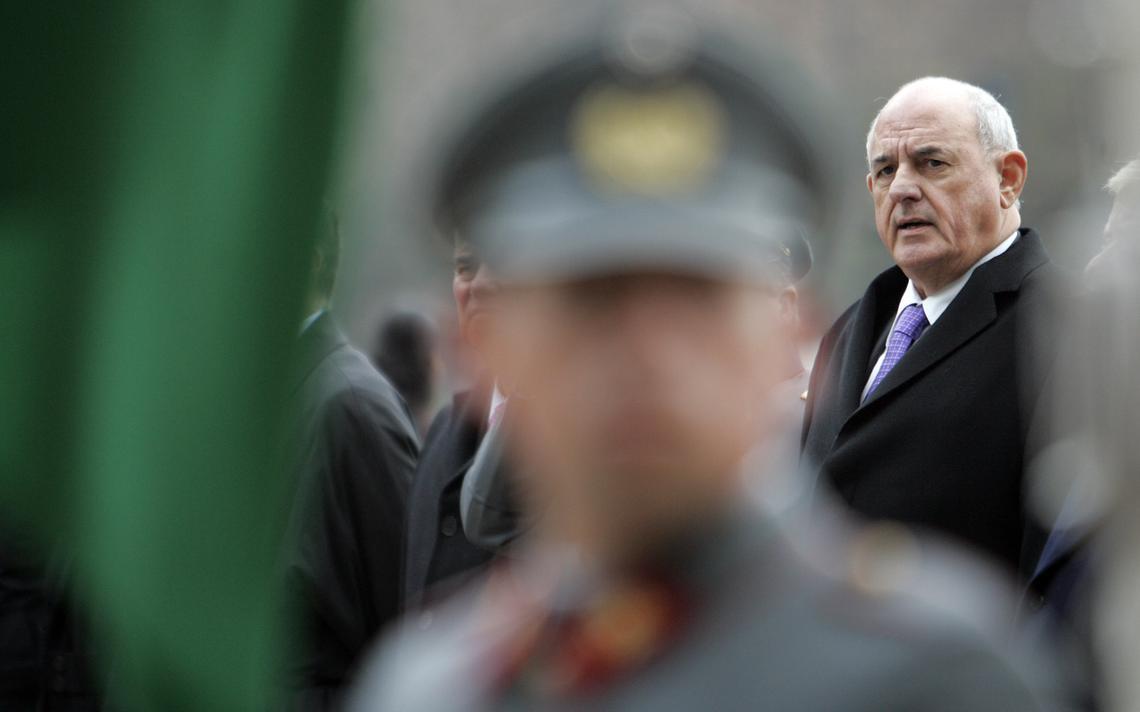 Nelson Jobim em visita oficial ao Chile como ministro da Defesa