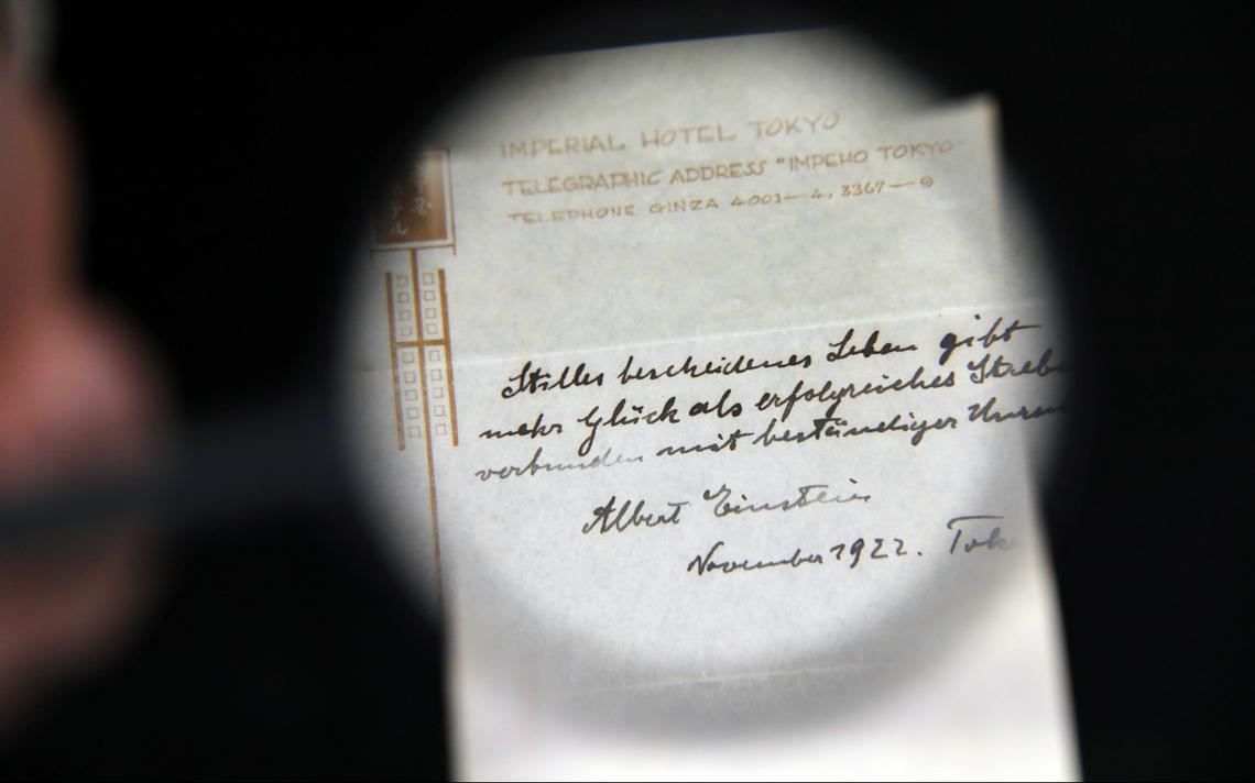 Nota de Albert Einstein de 1922