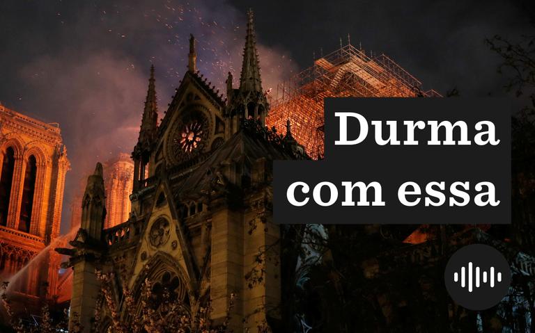 Bombeiros tenta controlar o fogo qna catedral de Notre-Dame