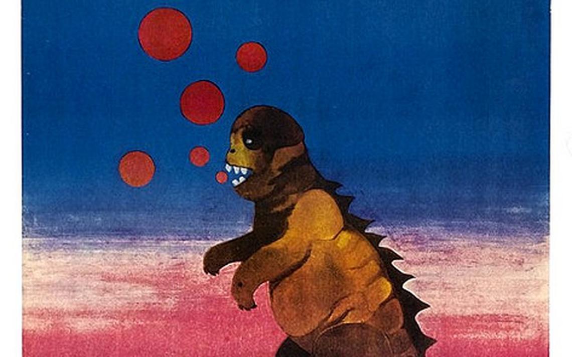 "Pôster de ""O Filho de Godzilla"", da artista gráfica Zuzanna Lipinska"