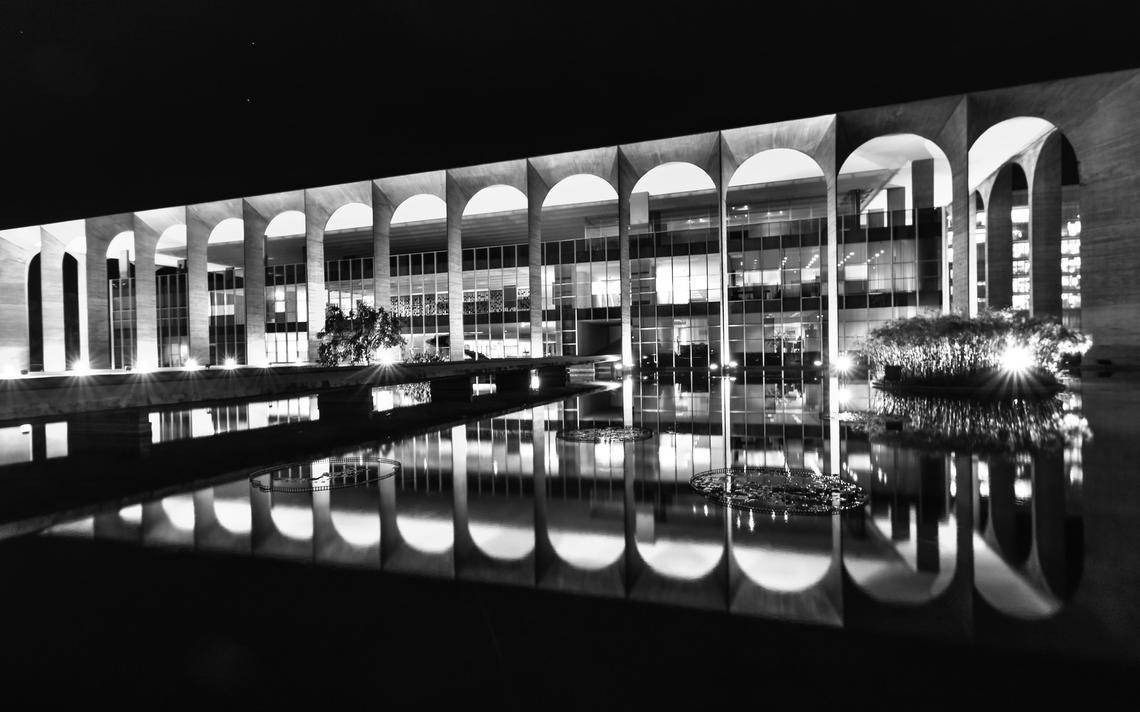 O Palácio Itamaraty, sede do Ministério das Relações Exteriores, em Brasília