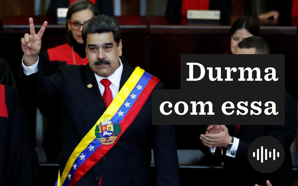 Nicolás Maduro, em cerimônia de posse para seu segundo mandato, em Caracas