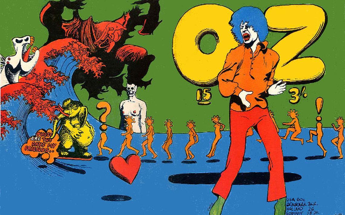 Capa de edição da OZ de setembro de 1968