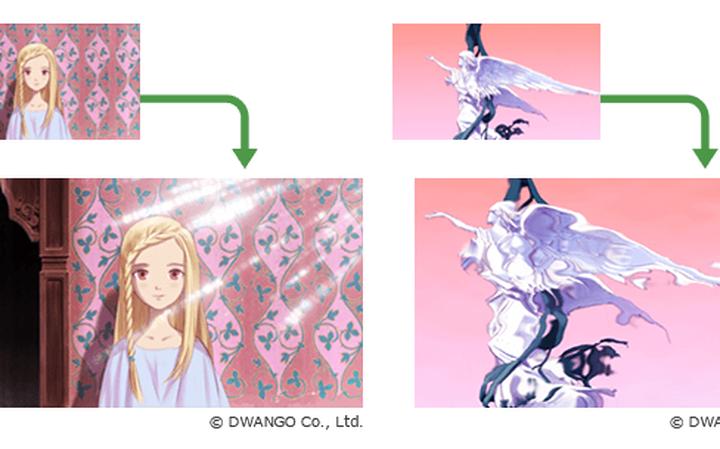Exemplos de efeitos que podem ser adicionados com o OpenToonz