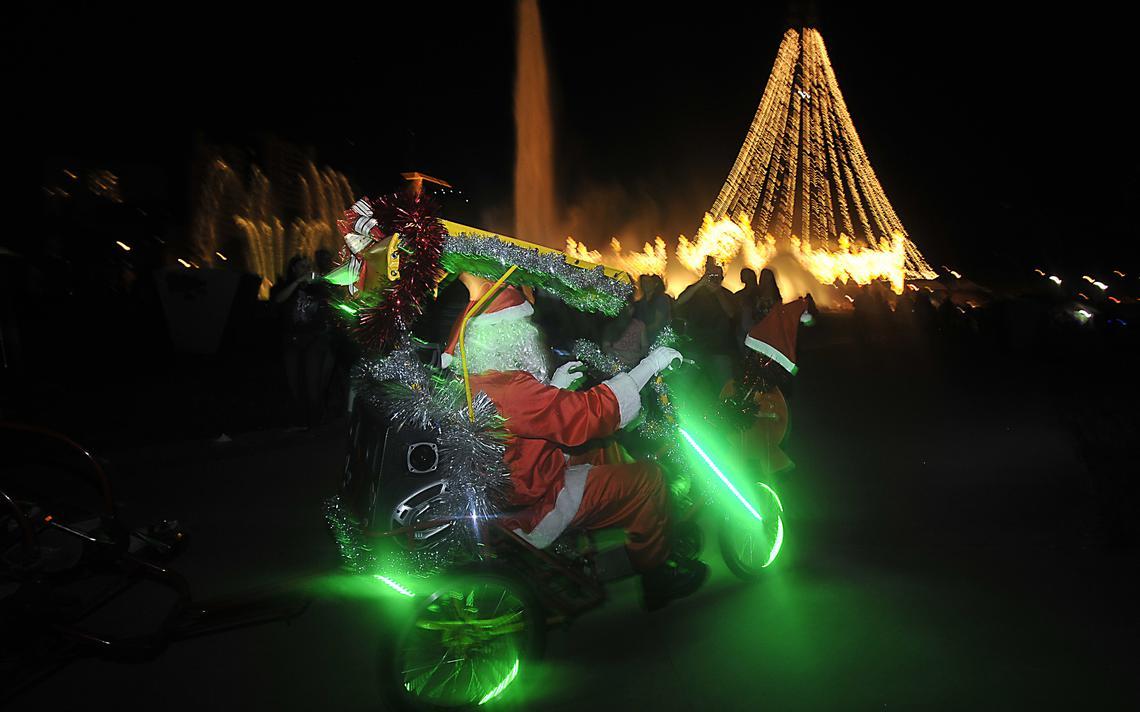 Luzes de Natal em Brasília