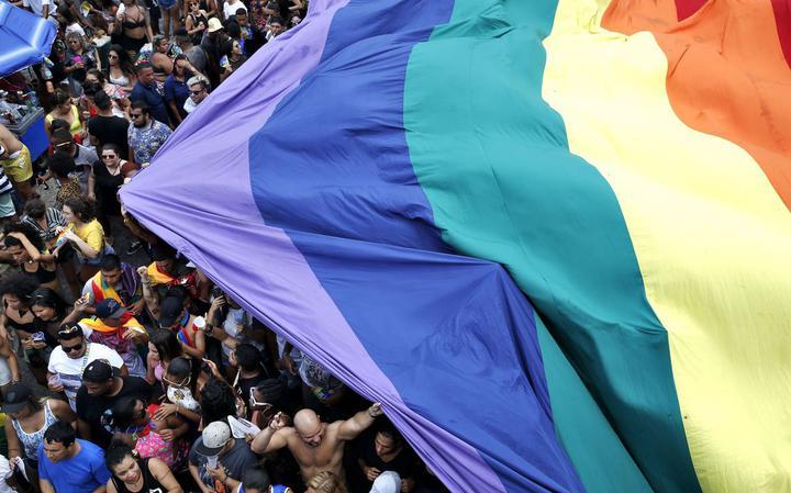 Parada LGBT em Copacabana, no Rio de Janeiro, em 2017
