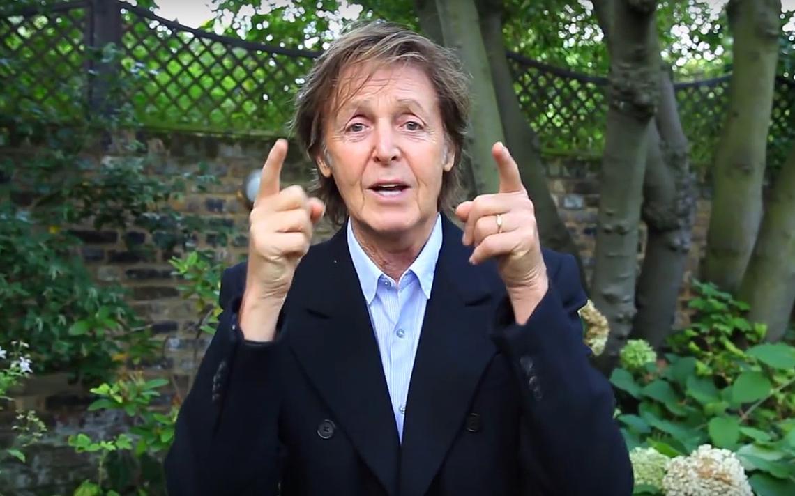Paul McCartney convoca pessoas a aderirem à campanha Meat Free Monday