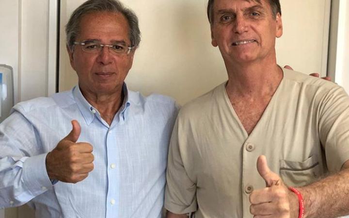 Paulo Guedes foi visitar Bolsonaro no hospital em São Paulo