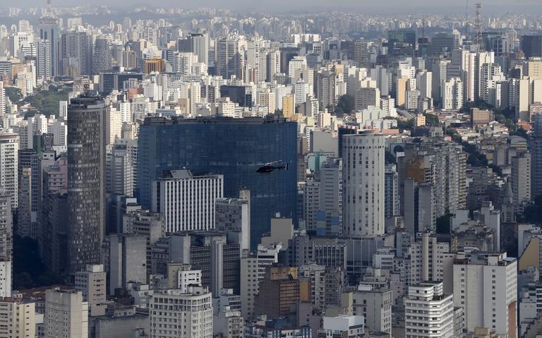 Vista aérea da região central de São Paulo