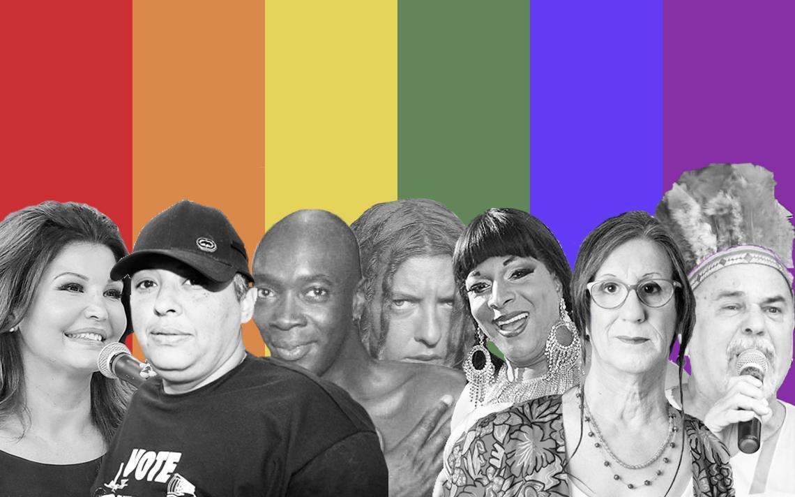Personalidades LGBT: Roberta Close, Xande dos Santos, Jorge Lafond, Vange Leonel, Silvetty Montilla, Laerte Coutinho e Luiz Mott