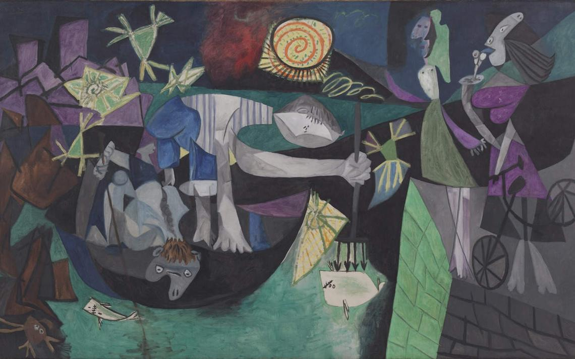 A pintura Pesca Noturna em Antibes