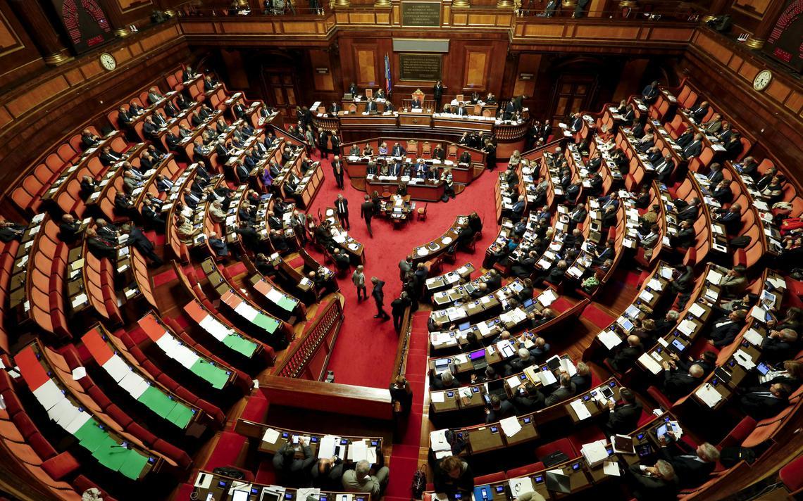 Plenário do Senado da Itália