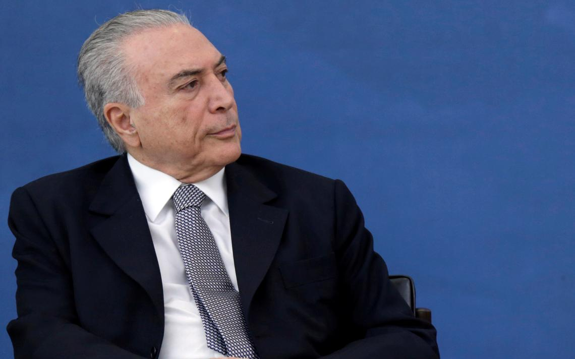 Michel Temer participa de solenidade no Palácio do Planalto