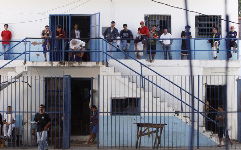 Prisioneiros do presídio de segurança máxima de Tacumbú, em Assunção, em 2010