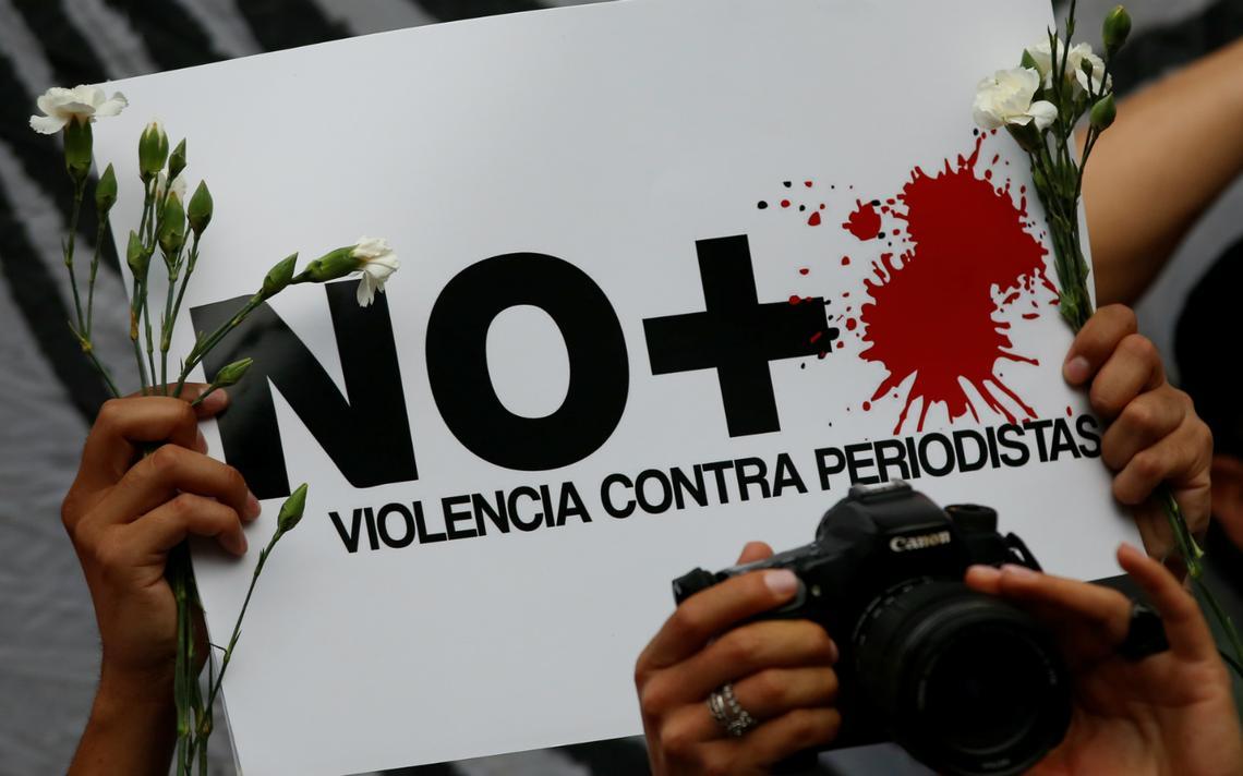 Protesto em 2017 no México, o segundo país mais violento para jornalistas segundo RSF