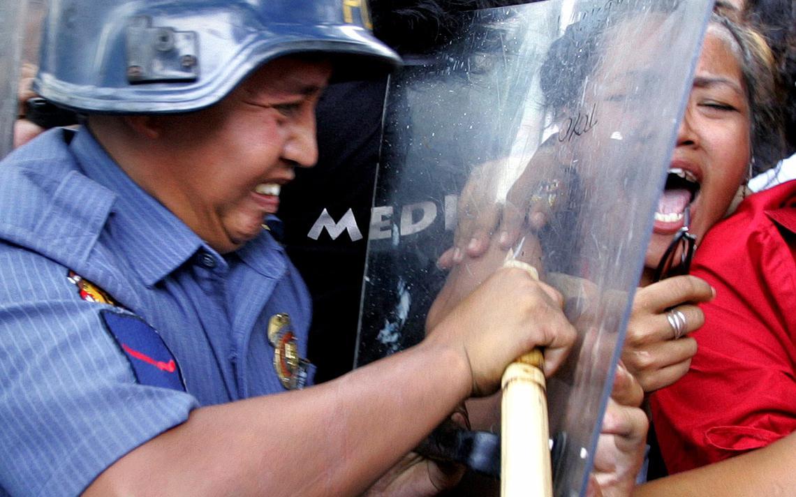 Repressão a protesto nas Filipinas