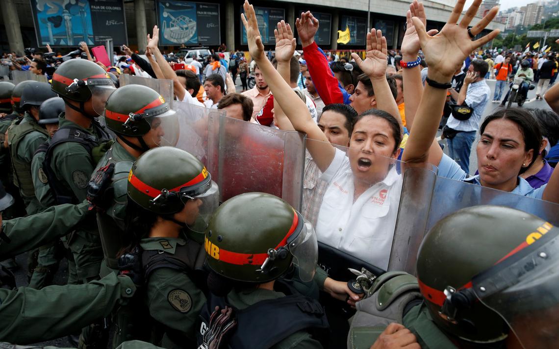 Protesto oposição venezuelana