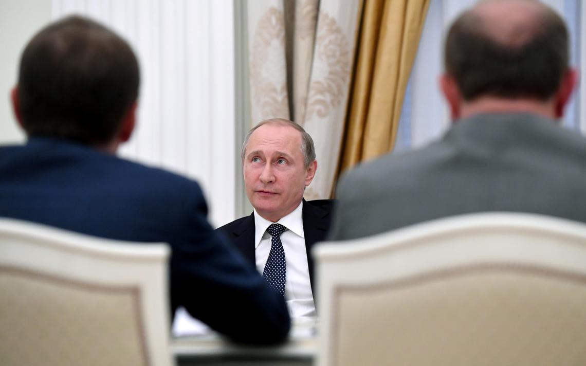 Putin em reunião no Parlamento russo