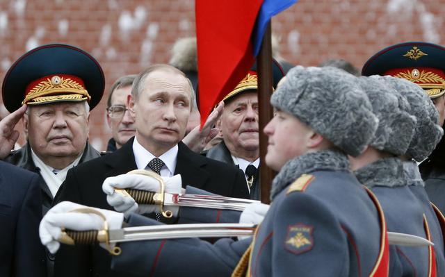 Putin em cerimônia militar