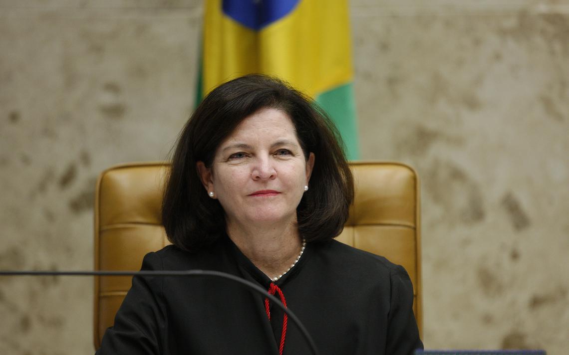 Raquel Dodge, procuradora-geral da República, durante sessão plenária do STF