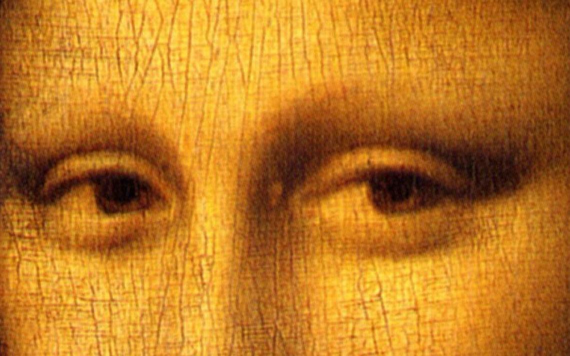 Recorte da tela 'Mona Lisa', de Leonardo da Vinci