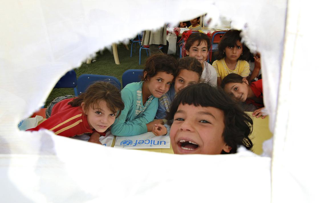 Crianças sírias na Jordânia