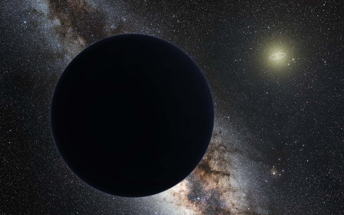 Representação artística do planeta nove