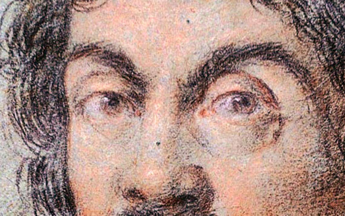 Retrato de Caravaggio, feito pelo pintor italiano Ottavio Leoni