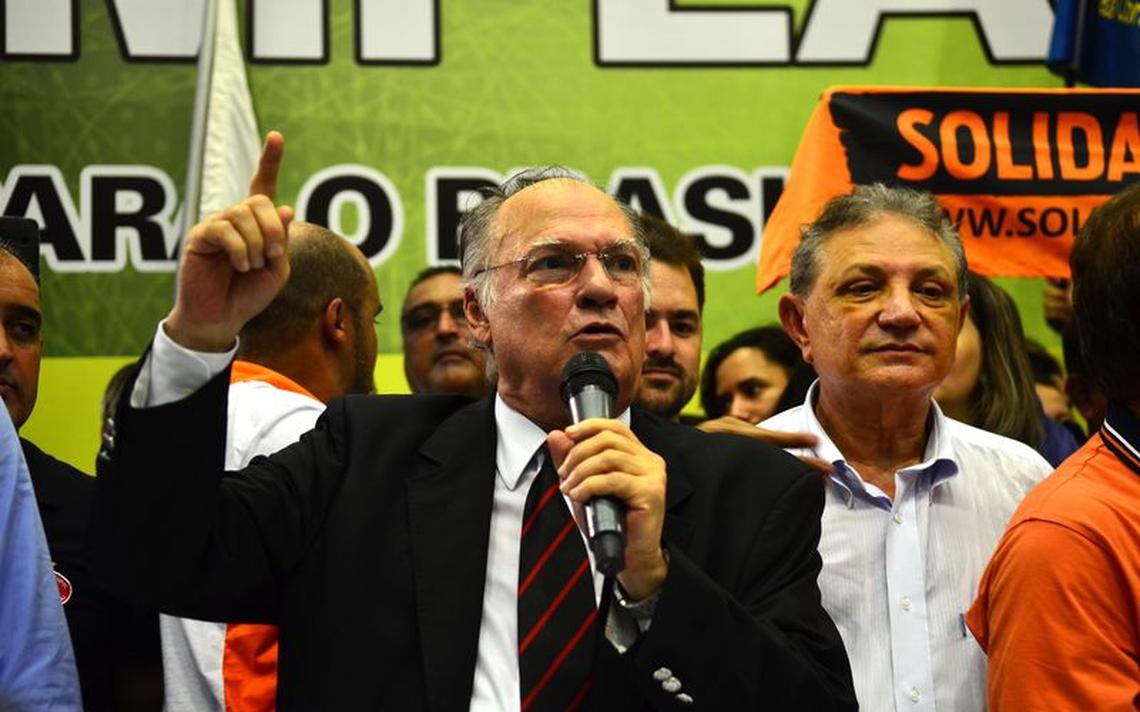 Roberto Freire em evento em São Paulo