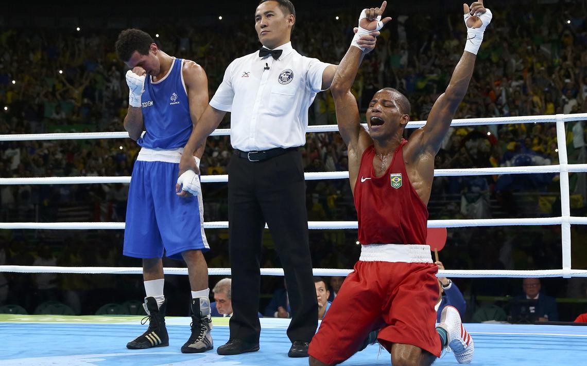 Robson Conceição ganha ouro inédito para o Brasil no boxe, nos Jogos Rio-2016