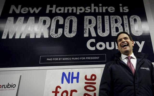 Rubio em escritório de campanha